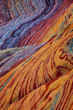 Polychrome sandstone via earthshots.org -Tony Kuyper is a photographer working on the Colorado Plateau in the southwestern United States
