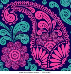 """""""Paisley in magenta and teal on navy background"""" Need to fine this color combo on a dress for a December wedding with Magenta motif. Got the magenta necklace and navy heels already"""