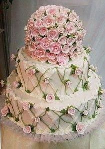 Very beautiful flower cake Beautiful Wedding Cakes, Gorgeous Cakes, Pretty Cakes, Amazing Cakes, Cupcakes, Cupcake Cakes, Mini Cakes, Take The Cake, Love Cake