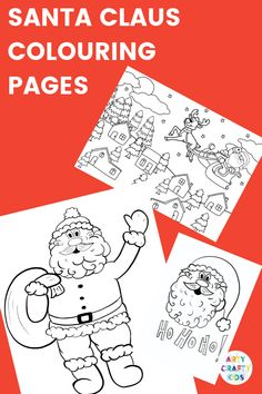 Children's Christmas Colouring Pages to print and colour. A gorgeous collection of Santa Claus, Snowflake, Rudolph and Bauble Colouring Pages. Preschool Christmas Crafts, Christmas Art Projects, Christmas Crafts For Kids To Make, Childrens Christmas, Easy Crafts For Kids, Christmas Activities, Kids Christmas, Xmas Crafts, Preschool Coloring Pages