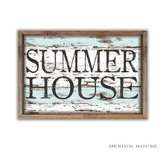 Summer house decor summer house signs beach by DesignHouseDecor Beach House Signs, Beach Signs, Beach House Decor, Coastal Cottage, Coastal Decor, Coastal Style, Painted Signs, Wooden Signs, Summer Signs