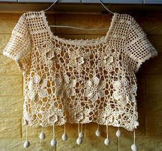 blouses crochet,  free pattern, gift ideas, summer clothing