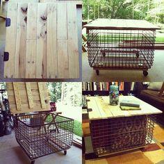 Repurposed industrial coffee table by ello lovey, via Flickr