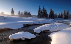 Roklanský potok v zimě, Šumava Mountains, Landscape, Nature, Travel, Scenery, Naturaleza, Trips, Landscape Paintings, Viajes