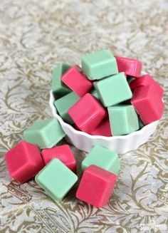 Wax melts are a great alternative to candles: Just place in a bowl and melt 'em down. Flame-free and easy to make, these cubes are vanilla-scented and make for a great gifts. Get the tutorial at Soap Queen.