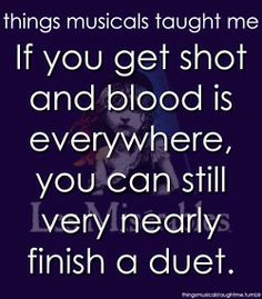 things musicals taught me Les Miserables -- movie musical adapted from Broadway musical adapted from novel by Dumas . Theatre Nerds, Musical Theatre, Sound Of Music, Music Sing, Thats The Way, That Way, Just In Case, Just For You, Show Must Go On