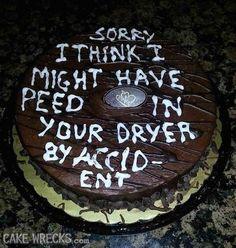 The Weirdest Apology Cake I've Seen Yet   Cake Wrecks   Bloglovin'