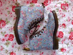 Floral Doc Martens | Good Golly Miss Holly
