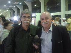Con Xavier Azkargorta, técnico de fútbol