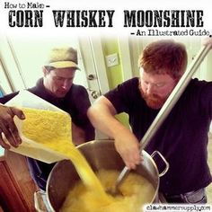 Homebrewing bar Corn Whiskey Recipe Copper Moonshine Still Kits - Clawhammer Supply Moonshine Kit, Moonshine Mash Recipe, Moonshine Still Plans, Copper Moonshine Still, Moonshine Whiskey, Making Moonshine, Home Distilling, Distilling Alcohol, Homemade Alcohol