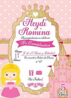 Princess birthday party invitations birthday invitation card princess birthday party invitations birthday invitation card sample pinterest princess birthday party invitations and princess stopboris Gallery