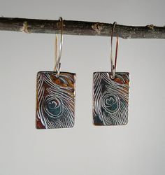 Peacock Feather Earrings by Mary Lou McMullen, via Flickr