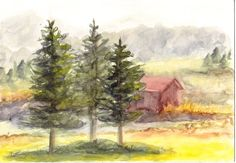 Watercolor plein air sketch