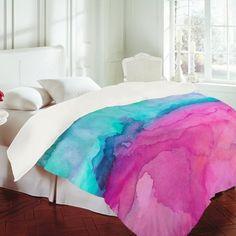 Watercolor bedspread #CroscillSocial