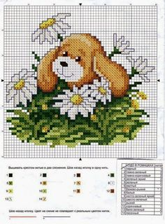 ixem seus comentários - Dinha Ponto Cruz - bem vindos de Cross Stitch Needles, Cross Stitch Baby, Cross Stitch Animals, Cross Stitch Charts, Cross Stitch Designs, Cross Stitching, Cross Stitch Embroidery, Dog Chart, Puppy Flowers