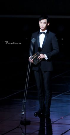 awesome Actor Kim Soo Hyun as the presenter at 51st Baeksang Arts Awards May 26, 2015