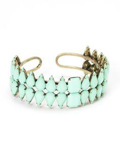 Antique Gold & Turquoise Ohitika Cuff Bracelet