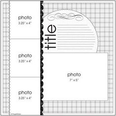 4 picture scrapbook layout