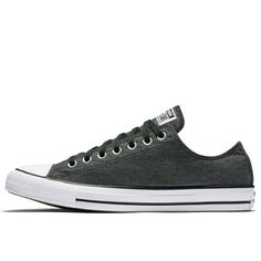 Chuck Taylor All Star Washed Chambray Low Top in Black/White/Black