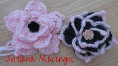 Tutorial Fiore decorativo  all'uncinetto - how to crochet a flower