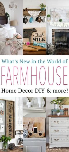 The requests for more Farmhouse Creations has been building up in my inbox …so I thought that it might be a fun addition to our regular to add What's New in the World of Farmhouse Home Decor DIY & More…it will be a collection of some of the newest Farmhouse DIY Projects…Home Tours…Inspirations and more …