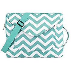 Amazon.com: Mosiso Chevron Style Envelope Nylon Fabric Sleeve Case Cover Bag with Shoulder Strap for 13-13.3 Inch MacBook Pro, MacBook Air, Notebook, Hot Blue: Computers & Accessories