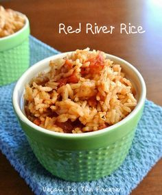 Red River Rice is simple and versatile and a side dish the whole family will enjoy. Add comino spice to this and it's Mexican Rice! Easy Rice Recipes, Delicious Vegan Recipes, Side Dish Recipes, Real Food Recipes, Healthy Recipes, Drink Recipes, Side Dishes Easy, Vegetable Side Dishes, I Love Food