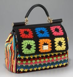 $1539                          Consulta de preços:   http://www.lyst.com/bags/dolce-gabbana-crochet-bag-brow...