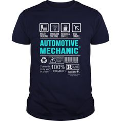 AUTOMOTIVE MECHANIC T-Shirts, Hoodies. CHECK PRICE ==► Funny Tee Shirts