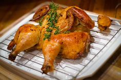 """citrus """"spatchcock"""" chicken. You will never roast a chicken any other way once you  try this! wonderful grilled too! :)"""