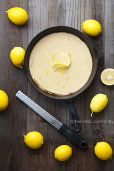 Clean Eating Skillet Baked Paleo Lemon Pancakes Recipe