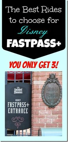 The Best rides to pick for Disney Fastpass+ ! You only get 3 Fastpass Plus choices - find out which ones you need to get and which ones you can skip before you head to Walt Disney World! #disney #fastpass+