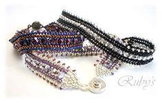 Pattern bijoux: Bracciale Herringbone Sparkle