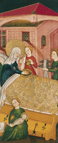 The Birth of the Virgin, c 1430, Anonymous German Artist active in Konstanz
