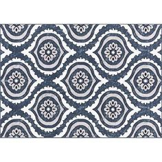 Charlton Home Oppelo Blue Area Rug Rug Size: Rectangle Navy Blue Area Rug, Blue Area Rugs, Types Of Color Schemes, Loom Machine, Transitional Rugs, Indoor Outdoor Area Rugs, Tribal Prints, Rug Size, Bungalow
