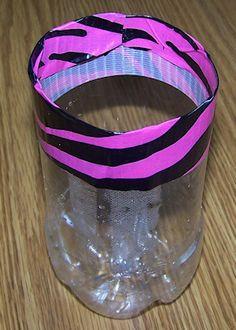 duct tape soda bottle vase kids teens crafts