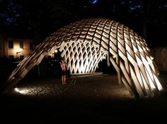 Eero Lundén & Markus Wikar - Pudelma in Turku, Finland - 05 - Photo by Taavi Henttonen Parametric Architecture, Parametric Design, Landscape Architecture, Architecture Design, Architecture Diagrams, Architecture Portfolio, Shell Structure, Plaza Design, Artistic Installation