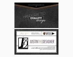 Justin The Designer Business Cards