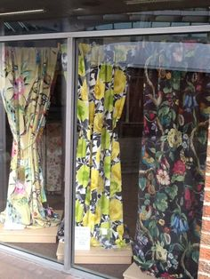 Fantastic display lengths in Changing Rooms windows! They have chosen fabrics from our digitally printed collections Art & Soul (left) and Life (right), plus our vibrant Madone design (middle) from the Diva collection.