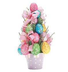 Easter Egg Tree Decor Flower Pot Decoration Spring Sparkling Glitter Colored   eBay