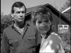 """David Janssen and Lois Nettleton in an episode of the TV series """"The Fugitive"""""""