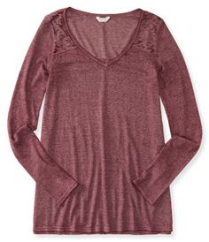 Long Sleeve Waffle-Knit Vented Boxy Top -