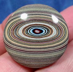 Solid Detroit Agate, Fordite Cabochon, Early 1960's by suzybones