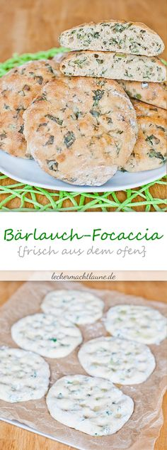 Wild garlic focaccia {fresh from the oven - Bärlauch - Picknick Pizza Recipes, Grilling Recipes, Bread Recipes, Barbecue Recipes, Wild Garlic, Fresh Garlic, Fresca, Hamburger Meat Recipes, Grilled Meat