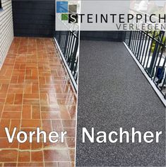 Balkon Bodenbelag Ideen Balcony renovation with a marble stone carpet. Simply lay over the existing tiles. The perfect topping for Balconies or Balcony Tiles, Balcony Flooring, Most Beautiful Gardens, Amazing Gardens, Bathroom Floor Tiles, Tile Floor, Hallway Carpet, Paint Your House, Marble Stones