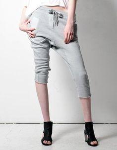 Grey Crop Sweat Pants