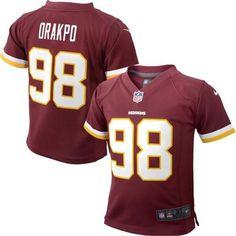 Brian Orakpo Washington Redskins Nike Preschool Game Jersey – Burgundy - $24.99