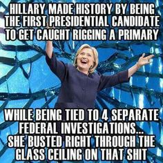 It's just ridiculous that she's even allowed, let alone considered to run for the office!!!!!