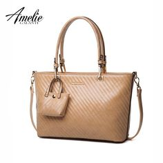 AMEIE GALANTI Women s PU Leather Bag Handbags   Crossbody Bags with Small  Purse Solid Zipper Casual Tote Women Shoulder Bags 27c3872f8f40e