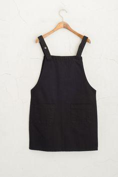Apron Dress, Black at Olive Grey Fashion, Minimal Fashion, Vintage Fashion, Olives, Apron Dress, Dress Up, Olive Clothing, Black Apron, Preppy Outfits